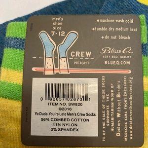 Lot of 2 NWT Men's Blue Q socks size 7-12